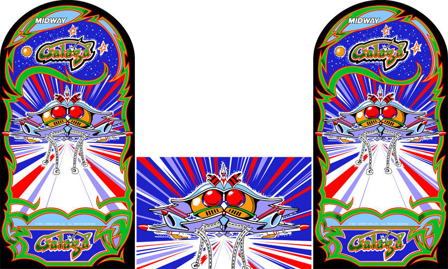 New Galaga Sideart/Kick Plate Set